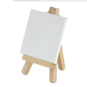 4″ x 4″ Canvas and Mini Easel–Add an Extra Set for December Painting Event